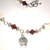Sugar Skull Day of the Dead Bicone Crystal Necklace