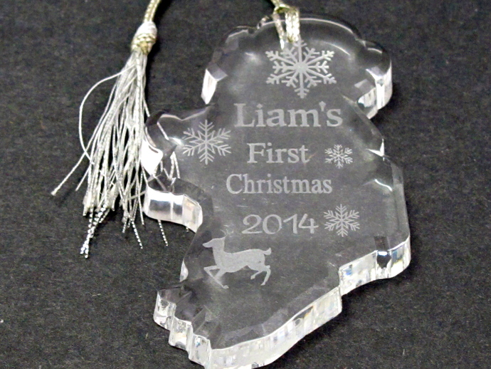 babys first christmas ornament 2017 can custom etch names liams as sample