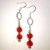 Rita Red Crystal Swarovski Earrings