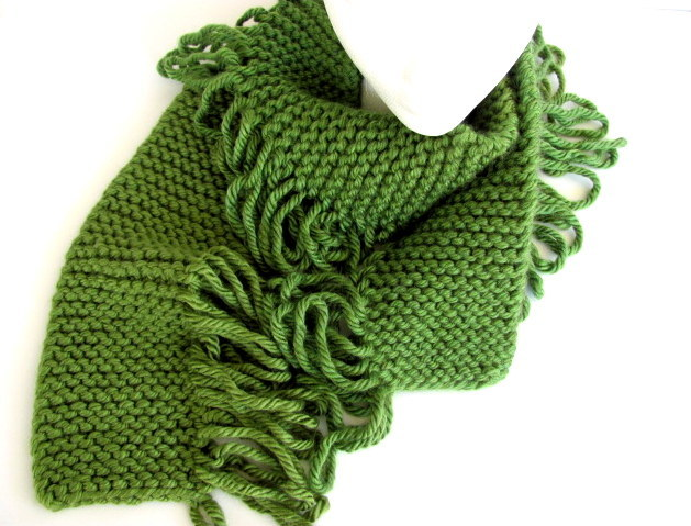 Skip To My Loop Green Scarf