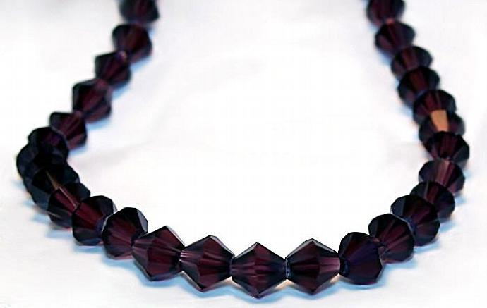 Dark Purple Bicone Crystals