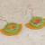Bicolor Half Circle Polymer Clay Earrings