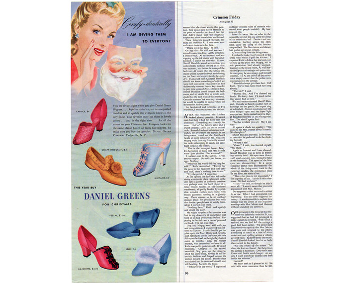 Daniel Greens Ladies Shoe Ad Vintage 1943 World War II Magazine Print