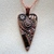 """""""Inspiration"""" Mosaic Heart Pendant with Copper Kabela with CZ on Copper Necklace"""