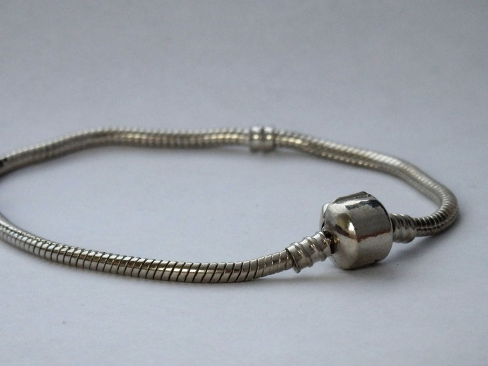 Snake chain bracelet blank for large hole beads 8.5""