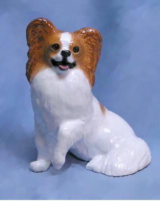 Hevener Collectible Papillon Dog Figurine