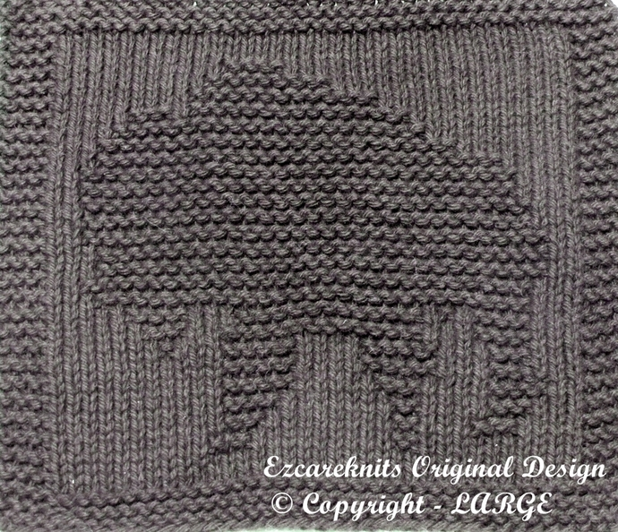 BUFFALO - Cloth Knitting Pattern - PDF