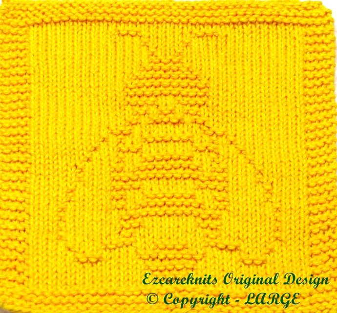 BEE - Cloth Knitting Pattern - PDF