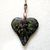 Multi-colored Glass & Enamel Heart Pendant on Heart-link Necklace