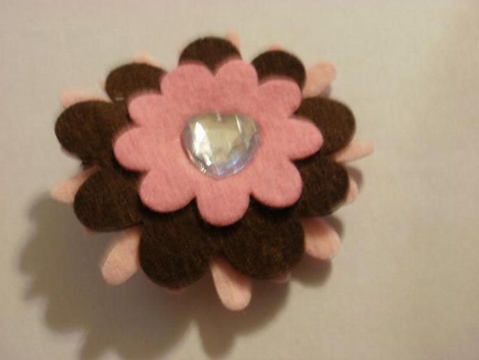 Wool Felt Flower Clippie (Z130)