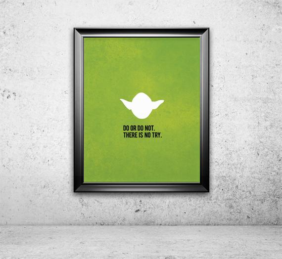 Yoda Print Star Wars Star Wars Print Movie By Popartpress On Zibbet