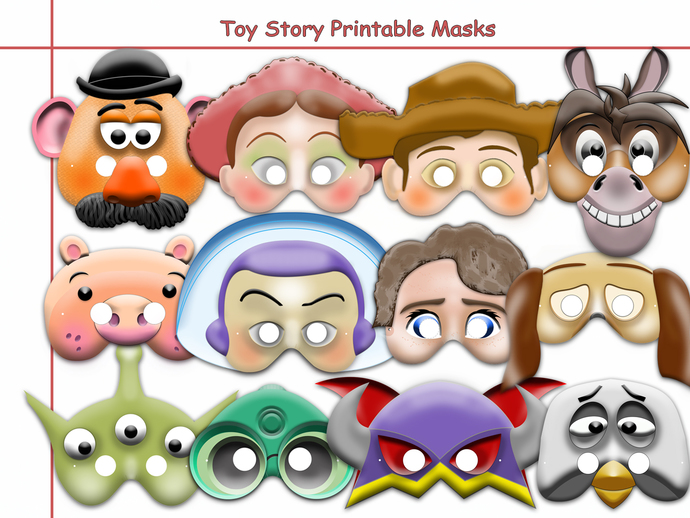 Unique Disney Toy Story Printable Masks Collection Party Birthday Mask Woody