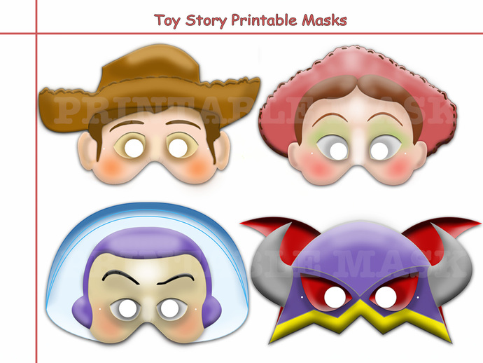 Unique Disney Toy Story Printable Masks Collectionpartybirthday