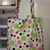 Green and Purple Reversable Shopping Bag/Purse