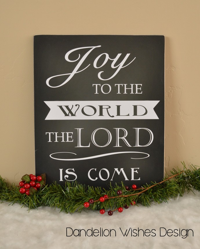 Joy to the World Christmas Sign, by Dandelion Wishes Design on Zibbet