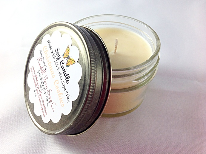 Christmas Cookies candle,4 oz , Eco Soya,hand poured,scented candle,soy candles