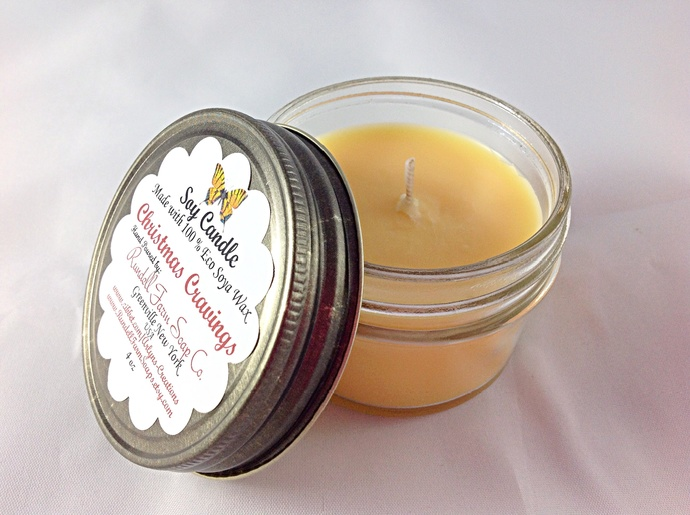 Christmas Cravings candle,4 oz , Eco Soya,hand poured,scented candle,soy candles