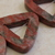 Triangle red sesame jasper beads 3p
