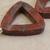 Triangle red sesame jasper beads 3p