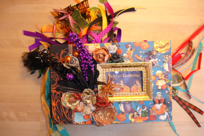 Lavish Handmade Halloween Photograph/Memory Album OOAK