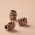 Large hole beads silver floral