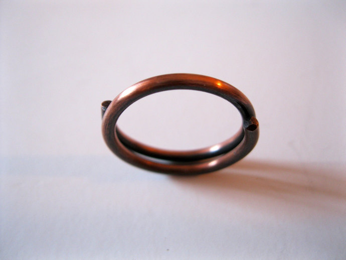 Spinning Copper Ring, Boho Ring, Copper Stacking Ring, Copper jewelry, Copper
