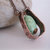 Copper necklace with blue green turquoise and hand forged copper tubing, stone