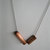 Two tone copper tube beads and sterling silver chain necklace, metal necklace,