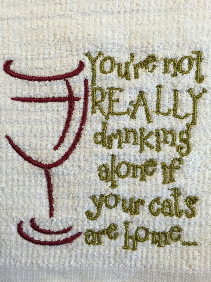 WINE and CATS bar mop towel