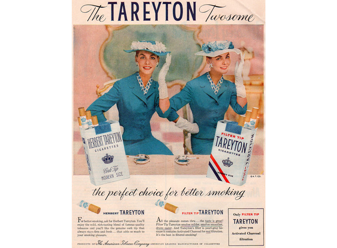 1950s Tareyton Cigarette Ad, Vintage Tobacciana Advertising, Magazine Print Ad,