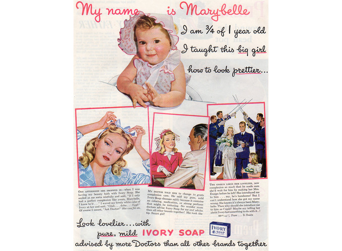 1940s Ivory Soap Ad, Vintage Health and Beauty Advertising, Magazine Print Ad,