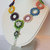 Rainbow Circles - Statement Necklace - Hand Beadwoven