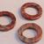 Round red sesame jasper beads 3p