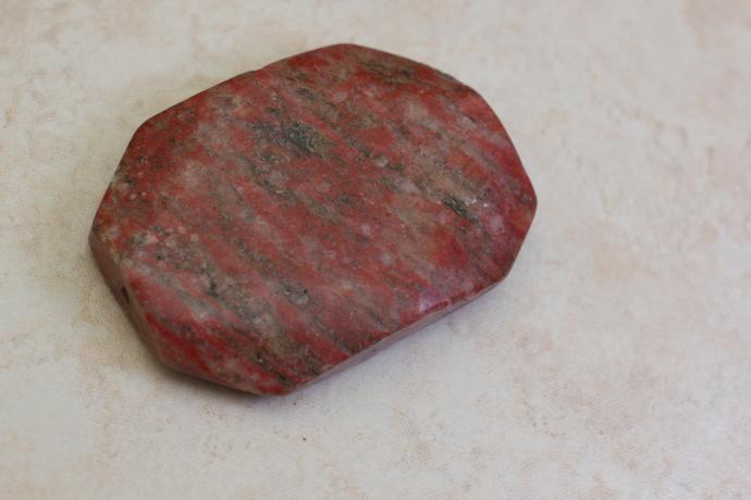 Octagon red sesame jasper