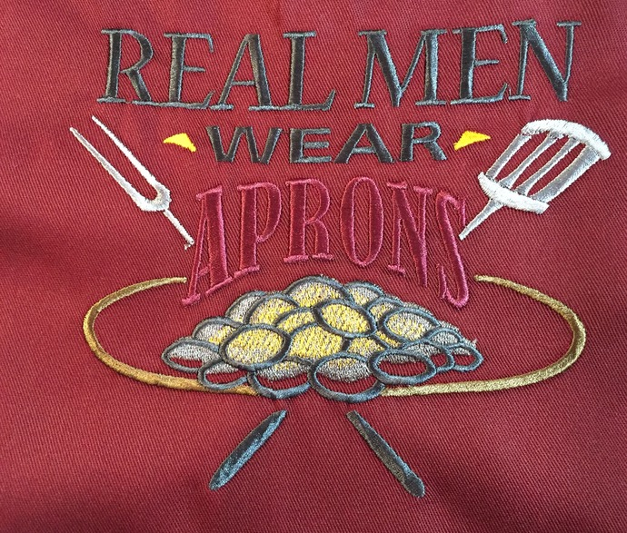 REAL MEN WEAR APRONS bibbed apron