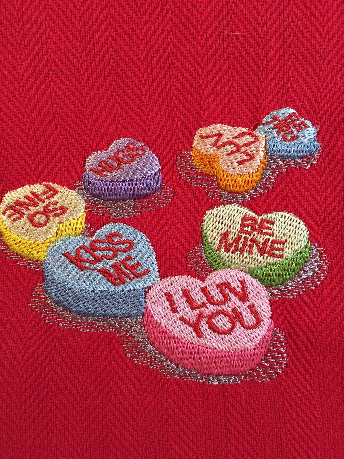 CANDY HEARTS kitchen towel