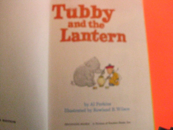 Rare Find- Vintage 1970's Beginner book- Tubby and the Lantern by Al Perkins
