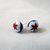Red White and Blue Star Millefiori Post Earrings