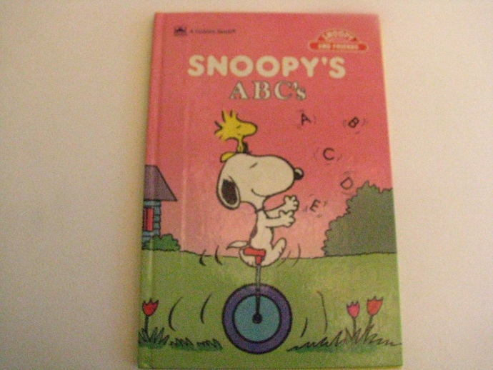 Rare Find- Vintage 1980's - A Golden Book- Snoopy and Friends- Snoopy's ABC's