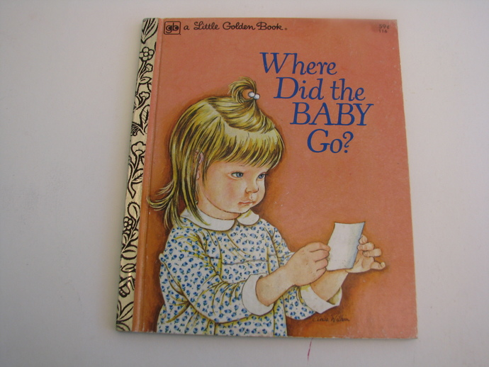Vintage A Little Golden Book 1977- Where Did the BABY Go?- be Sheila Hayes