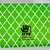 Arabesque Blessed Eid Card in Arabic and English - Green
