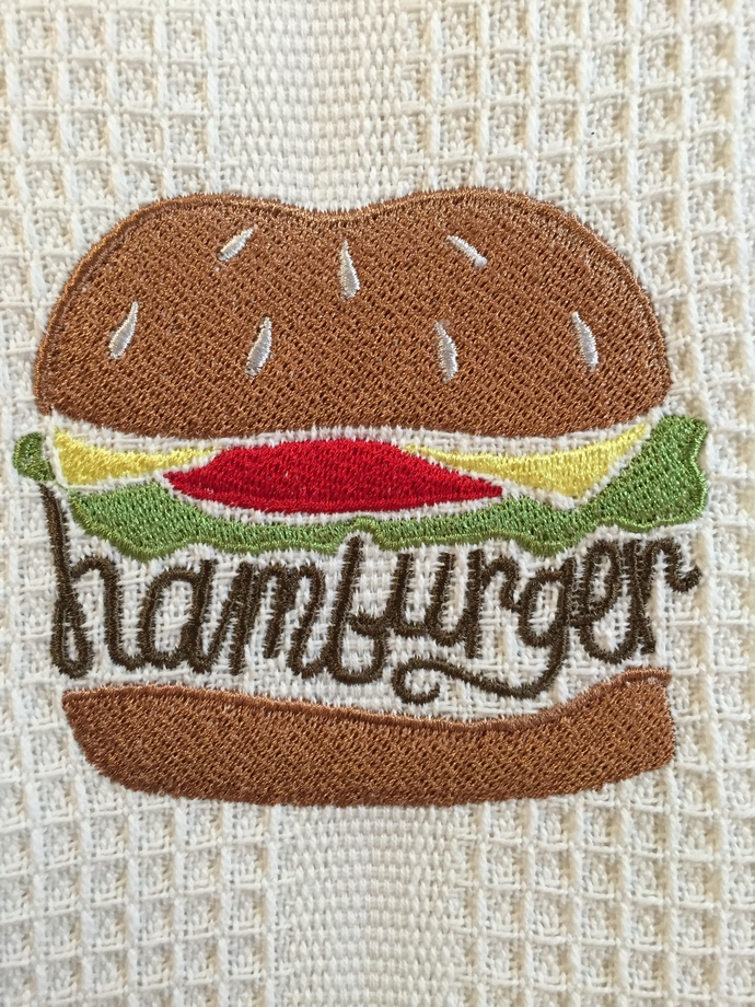 HAMBURGER kitchen towel