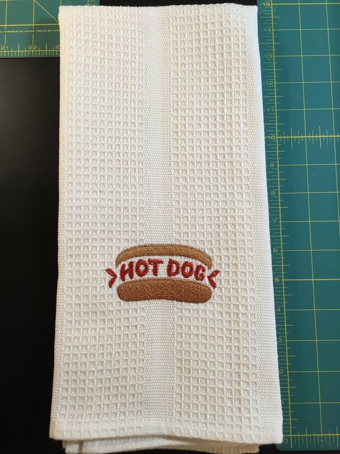 HOT DOG kitchen towel