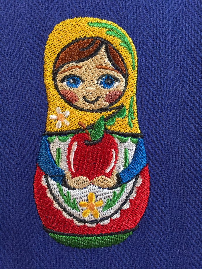 MATRYOSHKA DOLLS (HERS) kitchen towel