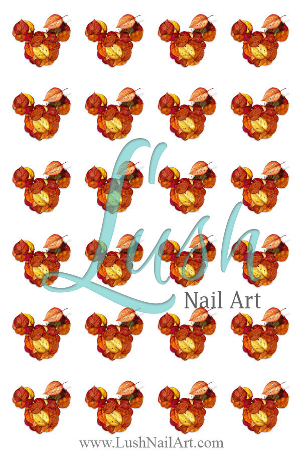 Thanksgiving Autumn Leaves Mickey Mouse Supersexynailart