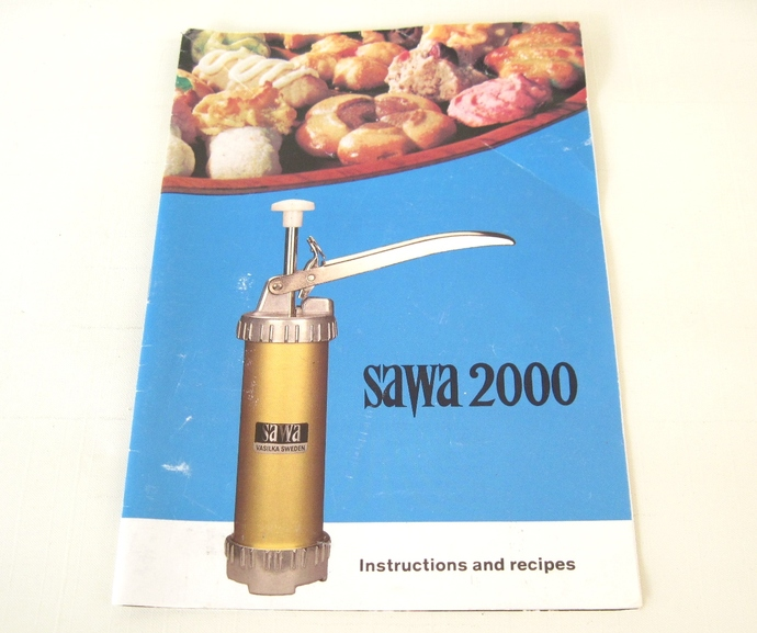 Sawa Cookie Press Instruction Manual Recipe Booklet Vintage (book only, cookie