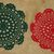 Red and Green Christmas Doilies #D0048