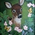 Original Deer Painting, fine art, acrylic, animal, fawn, realism, wildlife,