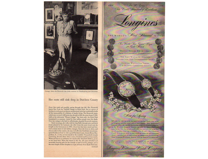 1956 Longines Wittnauer Mens and Womens Watch Vintage Print AD, Jewelry