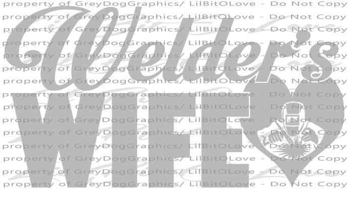 Welder's Wife Vinyl Decal Sticker Welding Weld